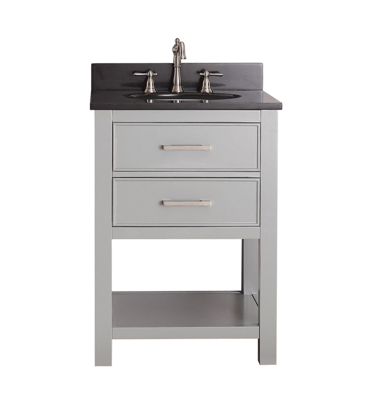 "avanity brooks-v24-cg brooks 24"" bathroom vanity in chilled gray 24 Bathroom Vanity"