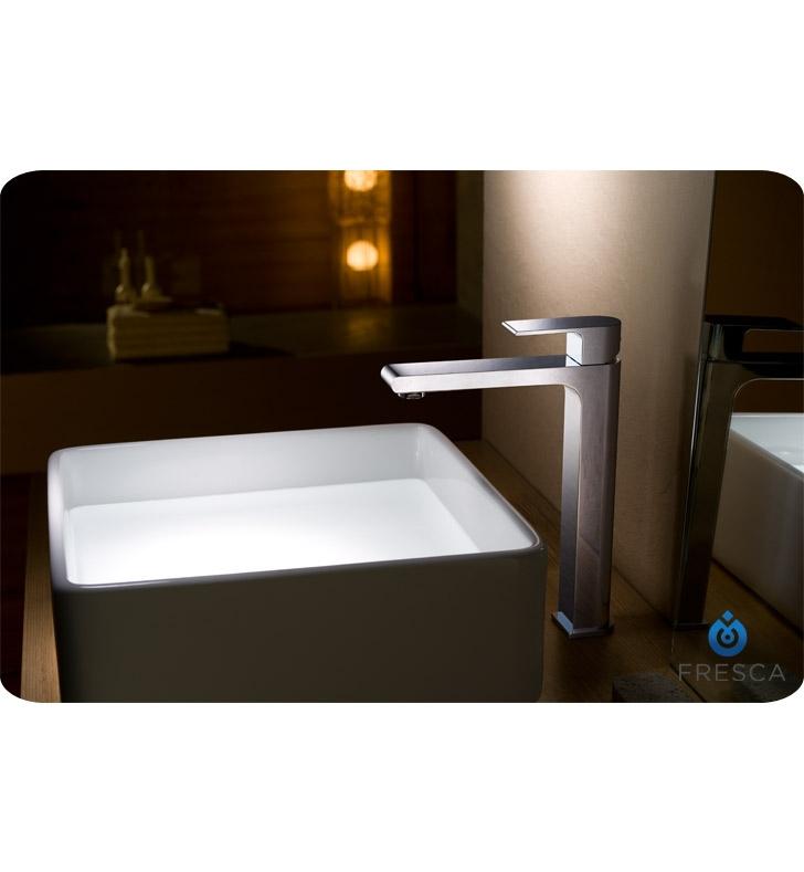 Fresca FFT9152CH Allaro Single Hole Vessel Mount Bathroom Faucet in ...