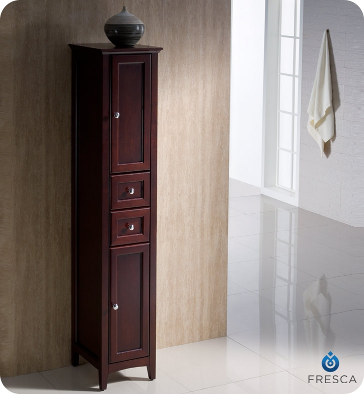 Fresca Fst2060mh Oxford Mahogany Tall Bathroom Linen Cabinet Faucets Mosaic Kitchen Supplies Supplieuch More At The Lowerst