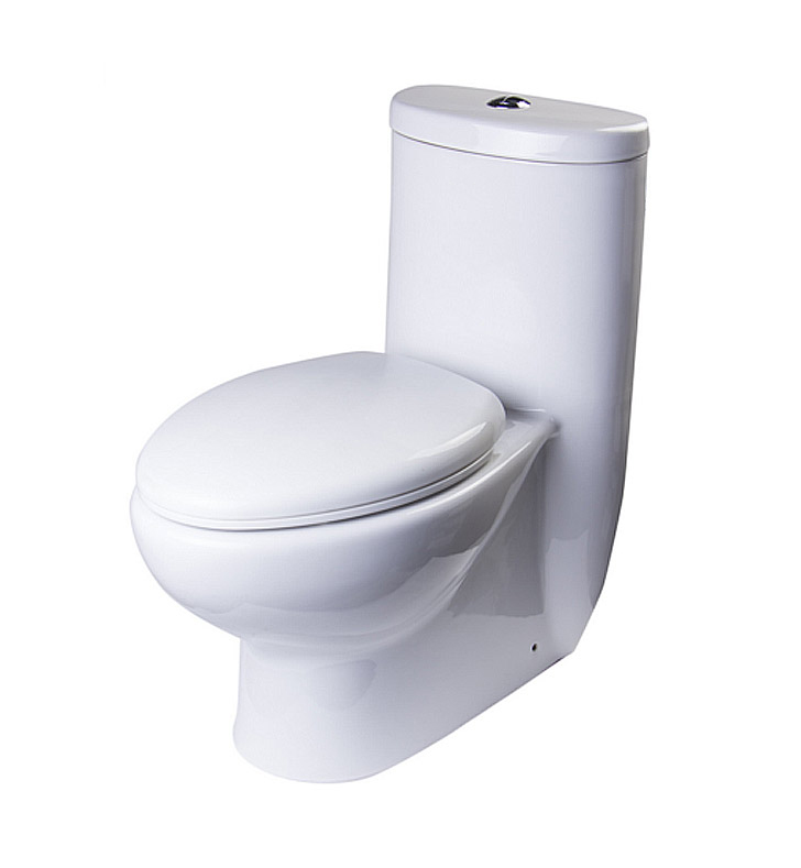 LightboxFresca FTL2309 Delphinus One Piece Dual Flush Toilet with Soft  . Two In One Toilet Seat. Home Design Ideas
