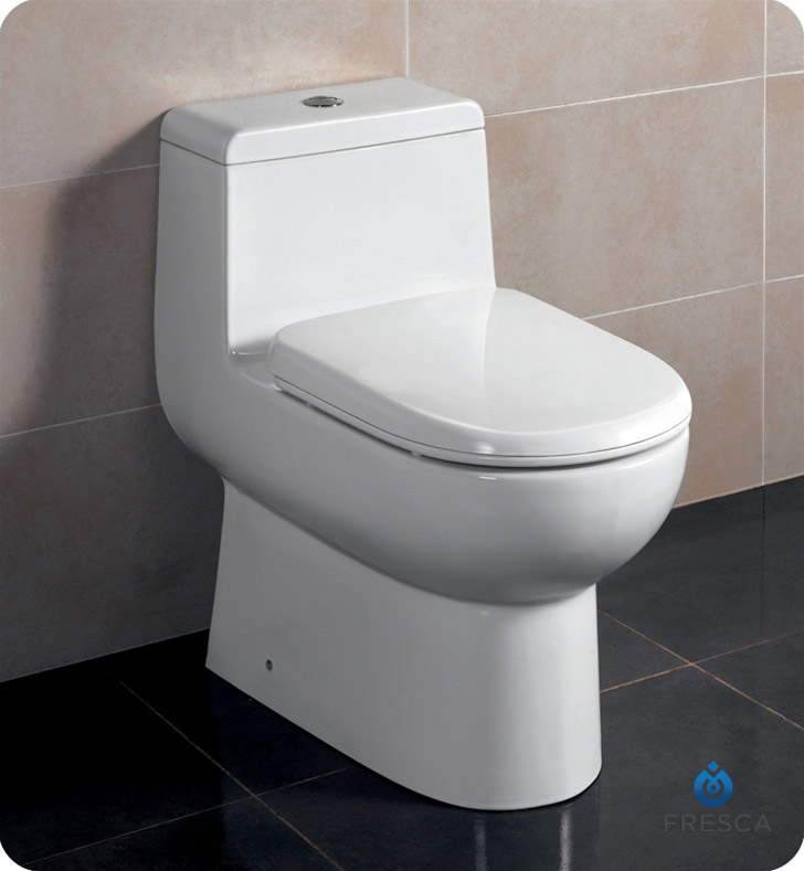 Fresca FTL2351 Antila One Piece Dual Flush Toilet With Soft Close