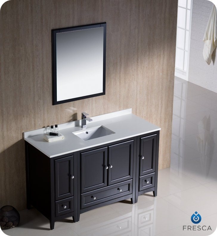 Peachy Fresca Fvn20 123012Es Oxford 54 Traditional Bathroom Vanity With 2 Side Cabinets In Espresso Faucets Mosaic Kitchen Supplies Bathroom Best Image Libraries Sapebelowcountryjoecom