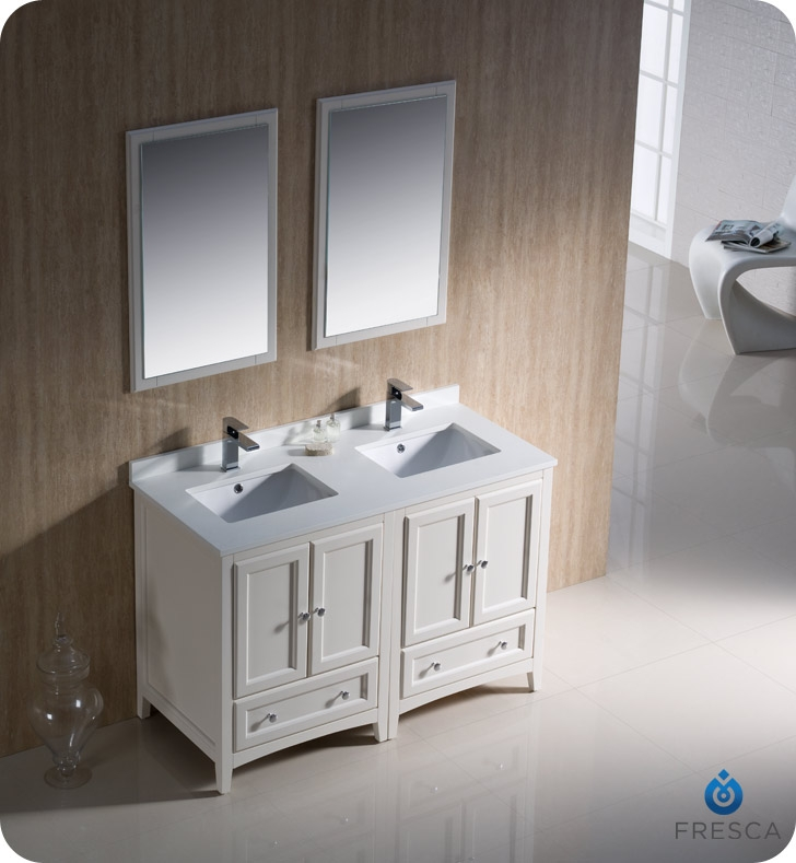 ... 48 Inch Double Vanity Inch White Double Sink Bathroom Vanity Solid  Presented To Your Flat · Lightbox ...