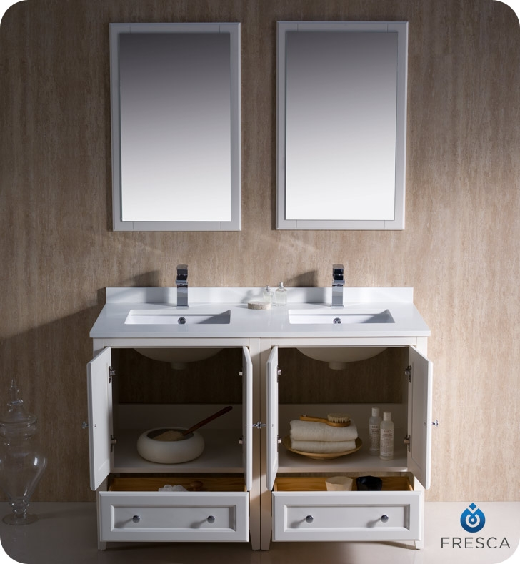fresca fvn20 2424aw oxford 48 traditional double sink bathroom rh solavanity com 48 inch double sink bathroom vanity home depot 48 inch double sink bathroom vanity home depot
