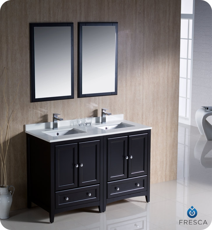 54 vanity double sink. Lightbox Fresca FVN20 2424ES Oxford 48  Traditional Double Sink Bathroom