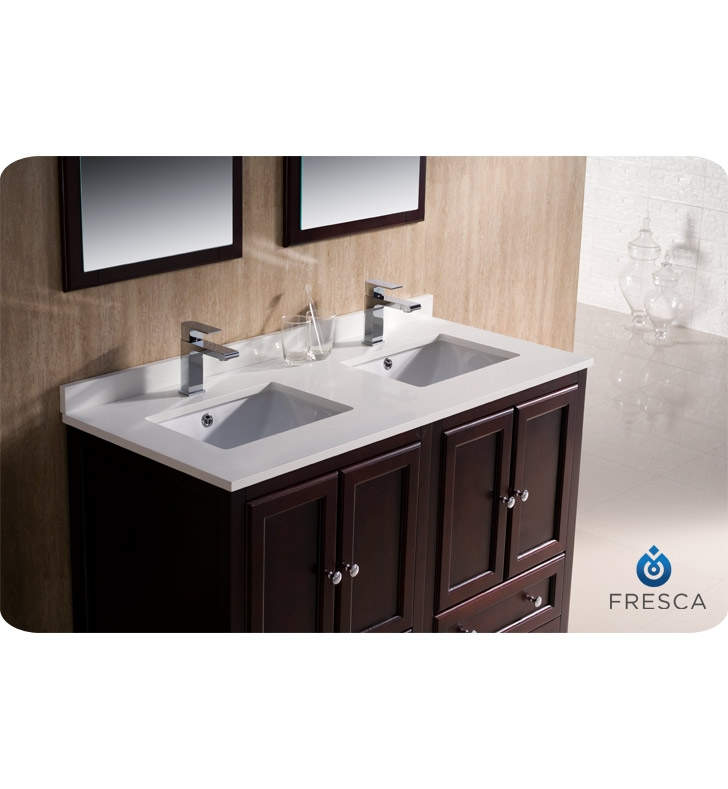 Fresca Fvn20 2424mh Oxford 48 Traditional Double Sink Bathroom