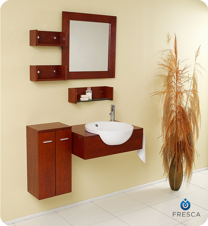 Awesome Fresca Fvn3520 Stile Modern Bathroom Vanity With Mirror And Side Cabinet Faucets Mosaic Kitchen Supplies Bathroom Supplies And Much More At Download Free Architecture Designs Viewormadebymaigaardcom