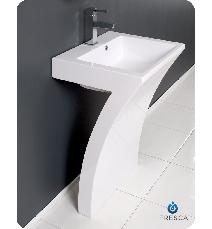 Fvn5024wh Quadro Pedestal Bathroom Sink